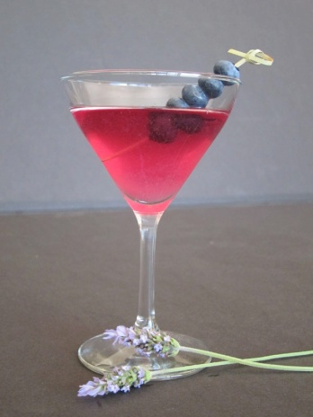 lavender blueberry martini
